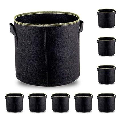 Amazon.com: Bekith 10 galones 3 Pack Plantar Bolsas de ...