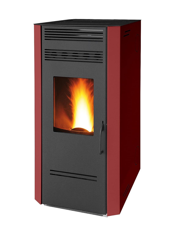 Estufa de pellets SP80HSBX rubí, Modelo Civetta, Wellness System, acero, Burdeos: Amazon.es: Hogar