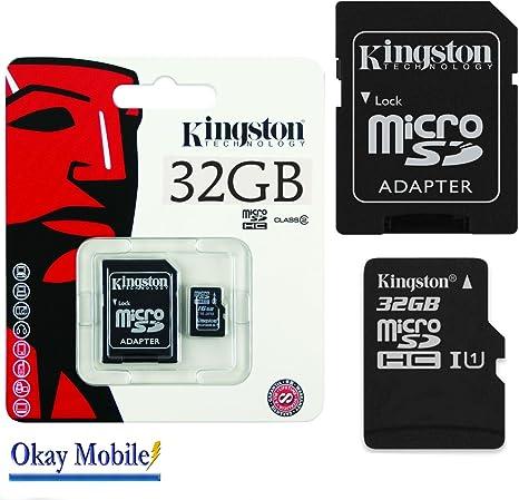 Okay Mobile Original Kingston MicroSD Tarjeta Tarjeta de Memoria 32GB para Doogee X5MAX–32GB