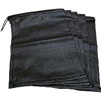 萩原工業 楽ちん ブラック土のう 縦約45cm 横約30cm 5枚入