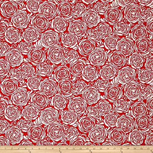 (RJR Fashion Fabrics 0548792 Sugar Berry Strawberry Pie Metallic Radiant Cherry Fabric by The Yard)