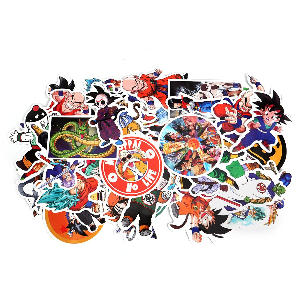 Cool dragon ball z vinyl laptop decals sarissa custom dbz sticker sheet cute anime decals clear stickers water resistant easy peel for no mess transfer