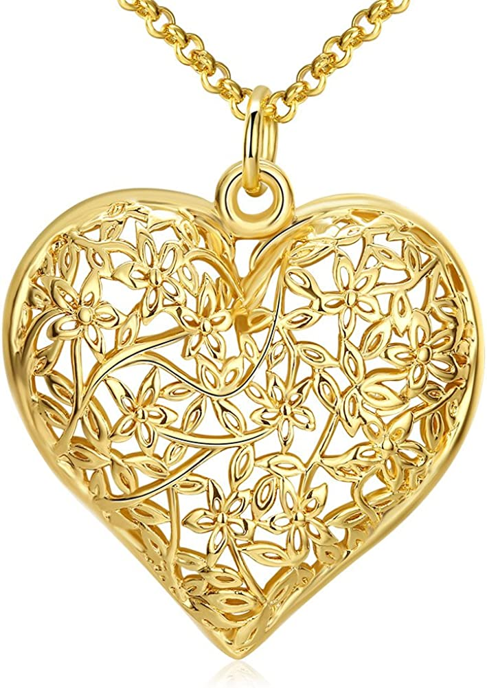 18k Gold Plated Classic Heart Love Ring Band New High Quality Jewlery Jewellery