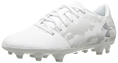 ad352121f7d4 Under Armour Unisex Kids' Ua Spotlight Dl Fg Jr Footbal Shoes, White, ...