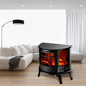 KUPPET Standing & Wall Mounted Electric Fireplace