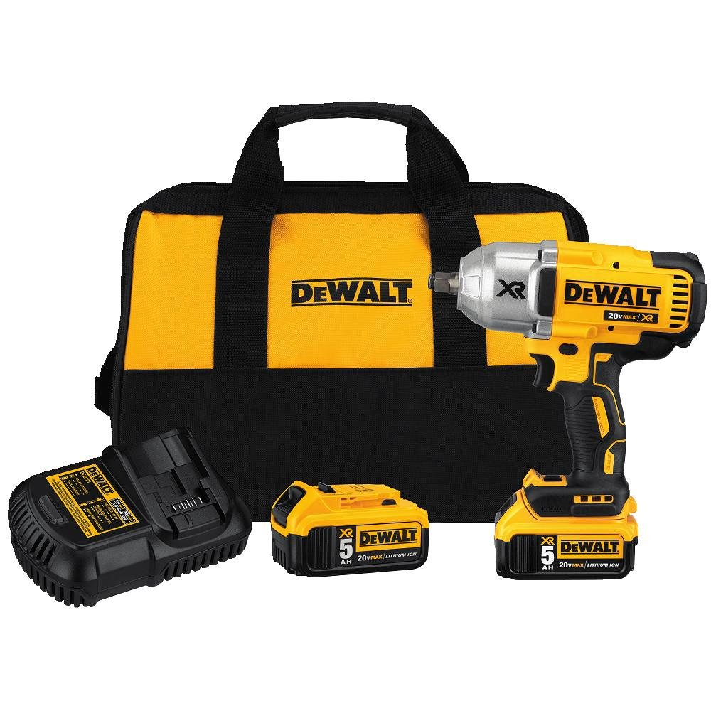 DEWALT DCF899HP2 20V MAX XR Brushless High Torque 1/2'' Impact Wrench Kit with Hog Ring Anvil by DEWALT (Image #1)