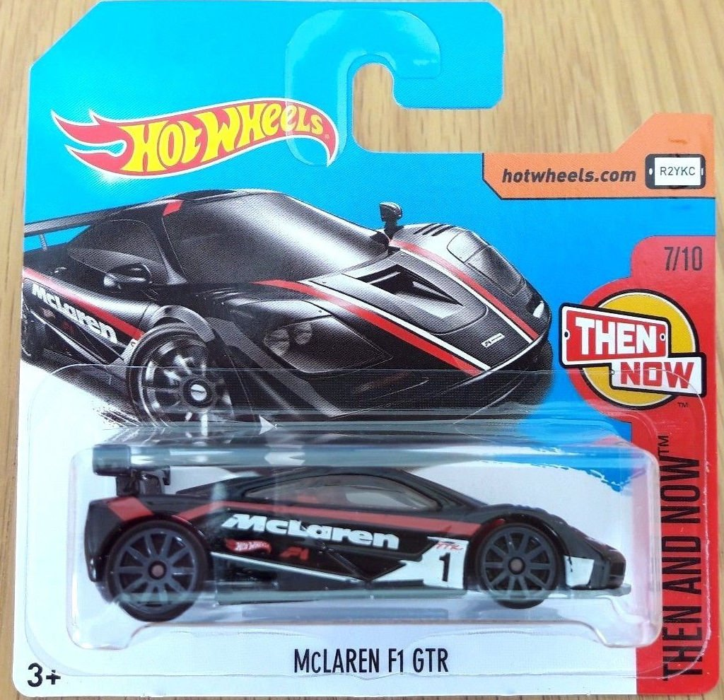 2017 Hot Wheels Then And Now Mclaren F1 Gtr Black 315 365 Short Hotwheels 720s Card Toys Games