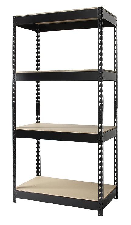 office shelf unit. Hirsh Industries Office Dimensions Riveted Steel Shelving 4-Shelf Unit, 30\u0026quot; W X Shelf Unit