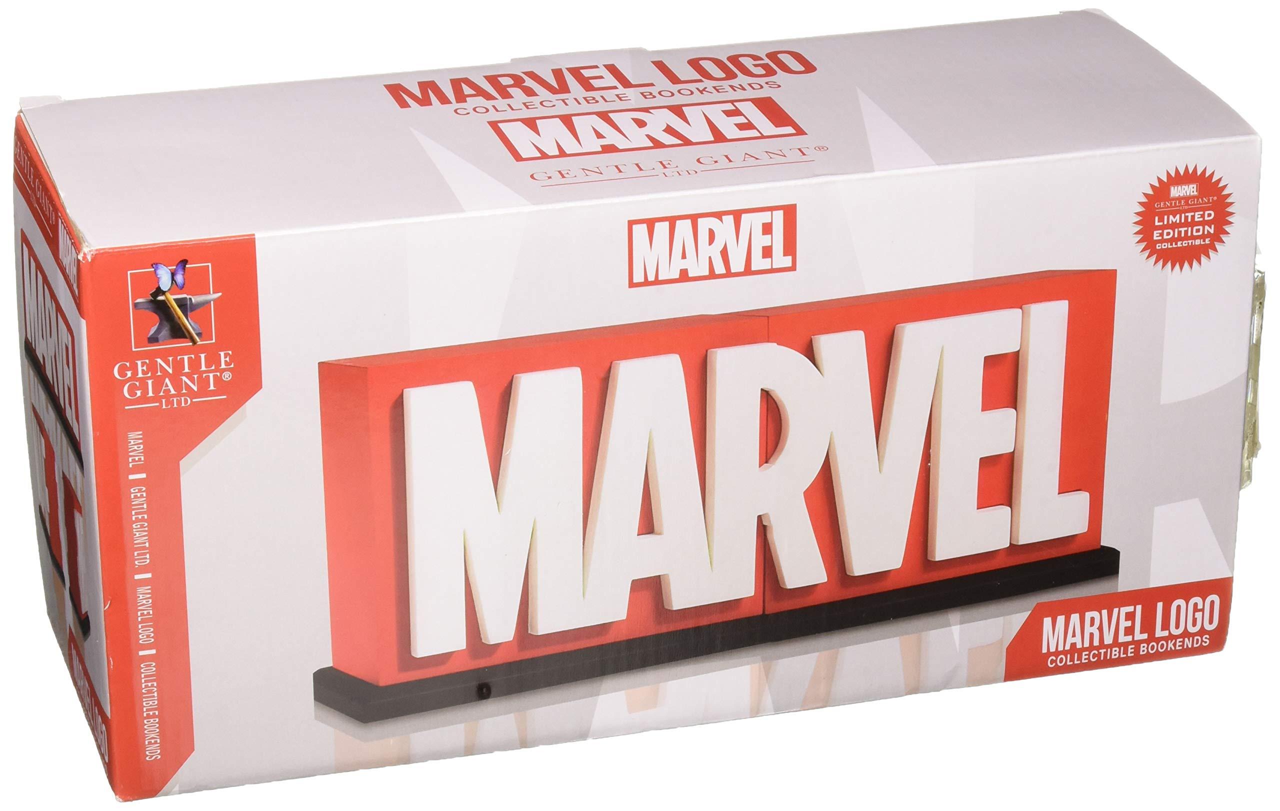 Gentle Giant Marvel Logo Bookends Statue
