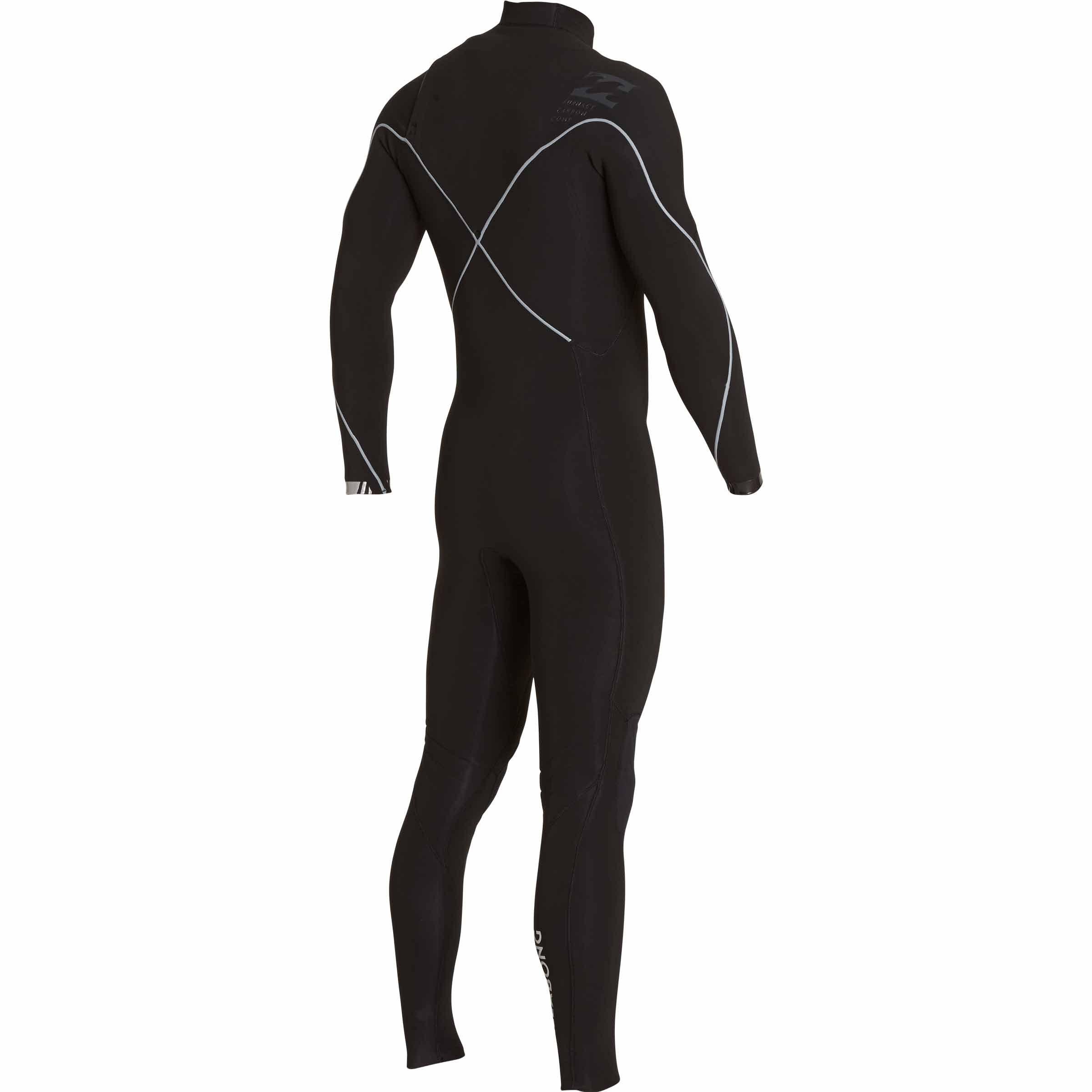 Billabong Men's 3/2 Furnace Carbon Comp Chest Zip Fullsuit Black Large