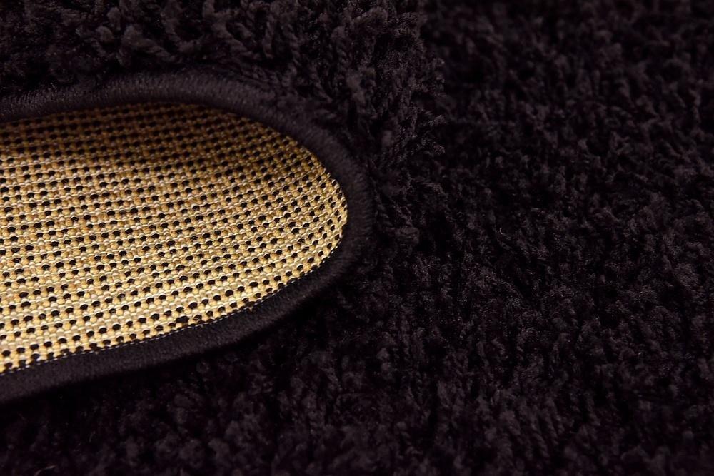 Unique Loom Solo Solid Shag Collection Modern Plush Jet Black Rectangle (5' x 8') by Unique Loom (Image #13)
