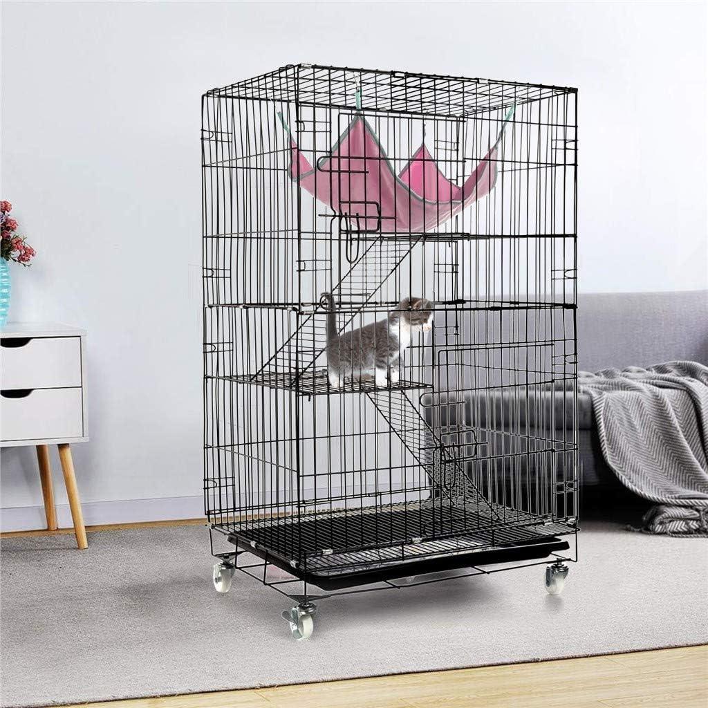 Pet Cage Playpen,Luxury 3-Tier Kitten Cat Ferret Cage Portable Cat Home Fold Pet Cat Cage Playpens