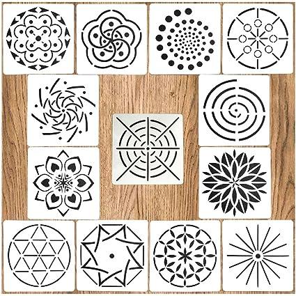 Amazoncom Mandala Dotting Stencils Template Mandala Dot Painting
