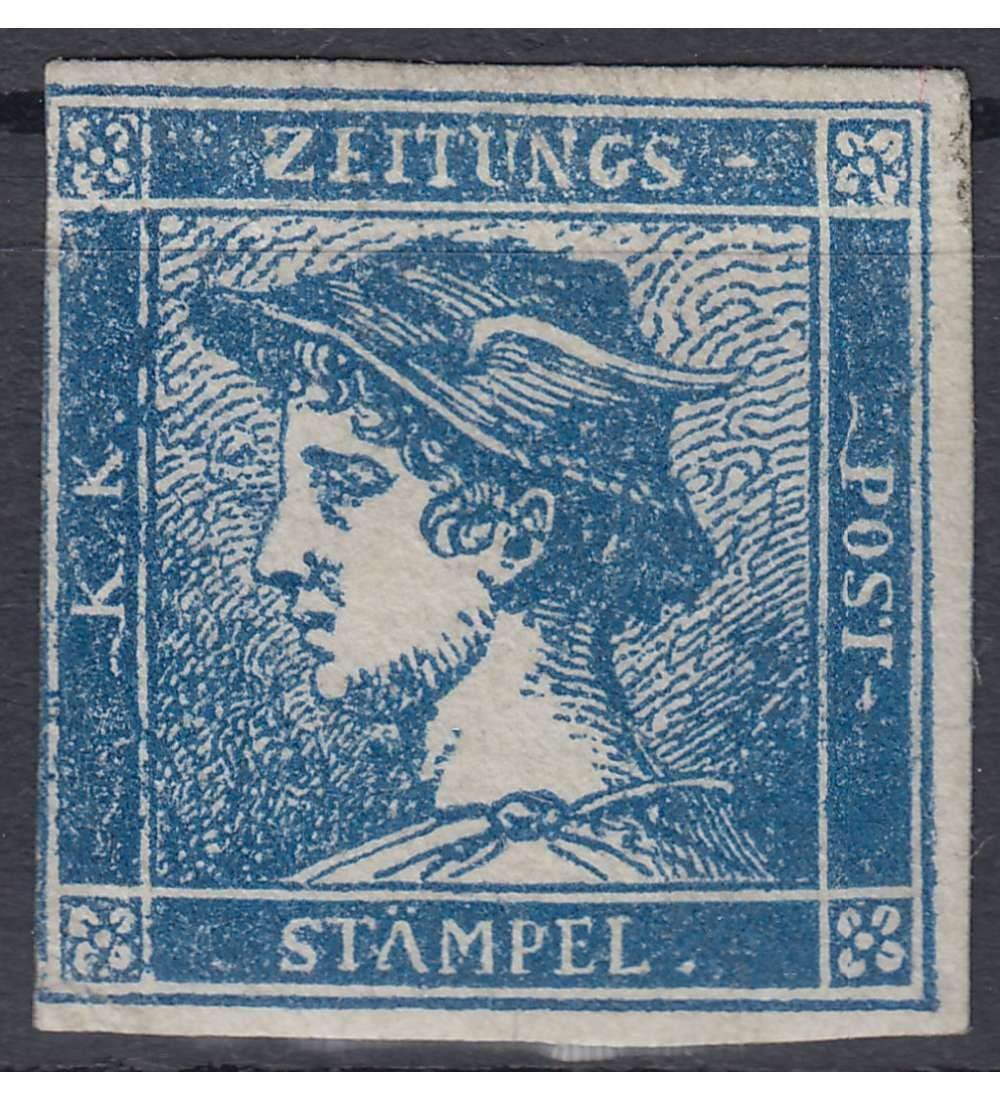 Goldhahn Österreich Nr. 6 ungestempelt Blauer Merkur Briefmarken für Sammler