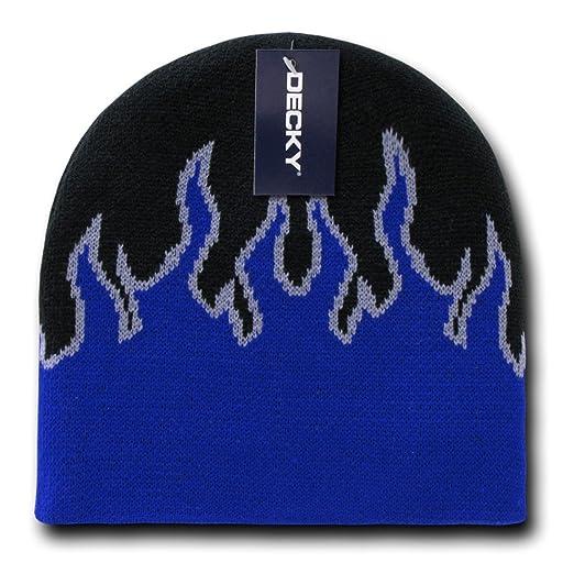 Amazon Decky Inc Flame Pattern Short Winter Beanie Skull Hat