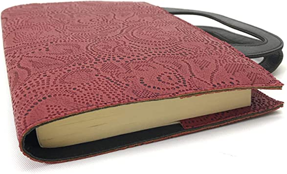Book Cover Patterned Book Case Burgundy ByGalaxy