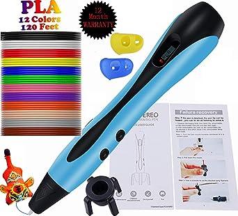 Amazon.com: Bolígrafo 3D Estéreo de dibujo para niños con ...