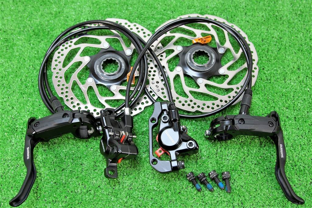 シマノ(SHIMANO) 高性能 油圧ディスクブレーキ BL-M505 BR-M446 SM-RT30 センターロックローター無 前後セット ブラック B07DWWTYDD