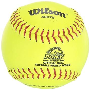 Wilson A9075 Pony League Softball (12-Pack)