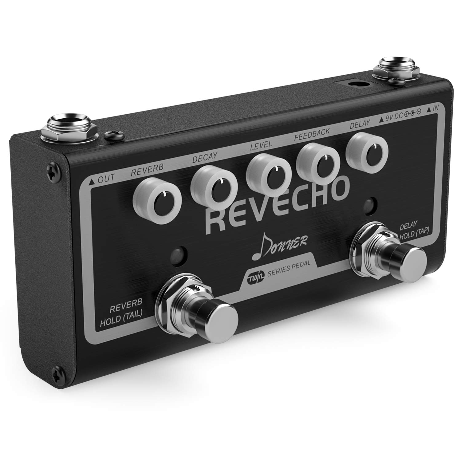 Donner Revecho Guitar Effect Pedal 2 Mode Delay and Reverb Effects Pedal by Donner