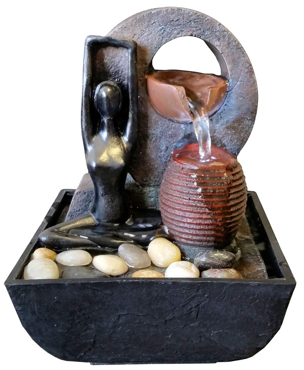 Agorà Import Fontana Zen Feng Shui in Poliresina Yoga RE-3765
