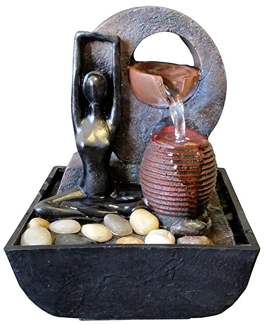 Fuente Zen para Interiores con iluminación a led Yoga ...