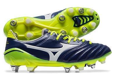 e6486d4b2 Morelia Neo II Mix SG Football Boots - Blue Print White Safety Yellow -