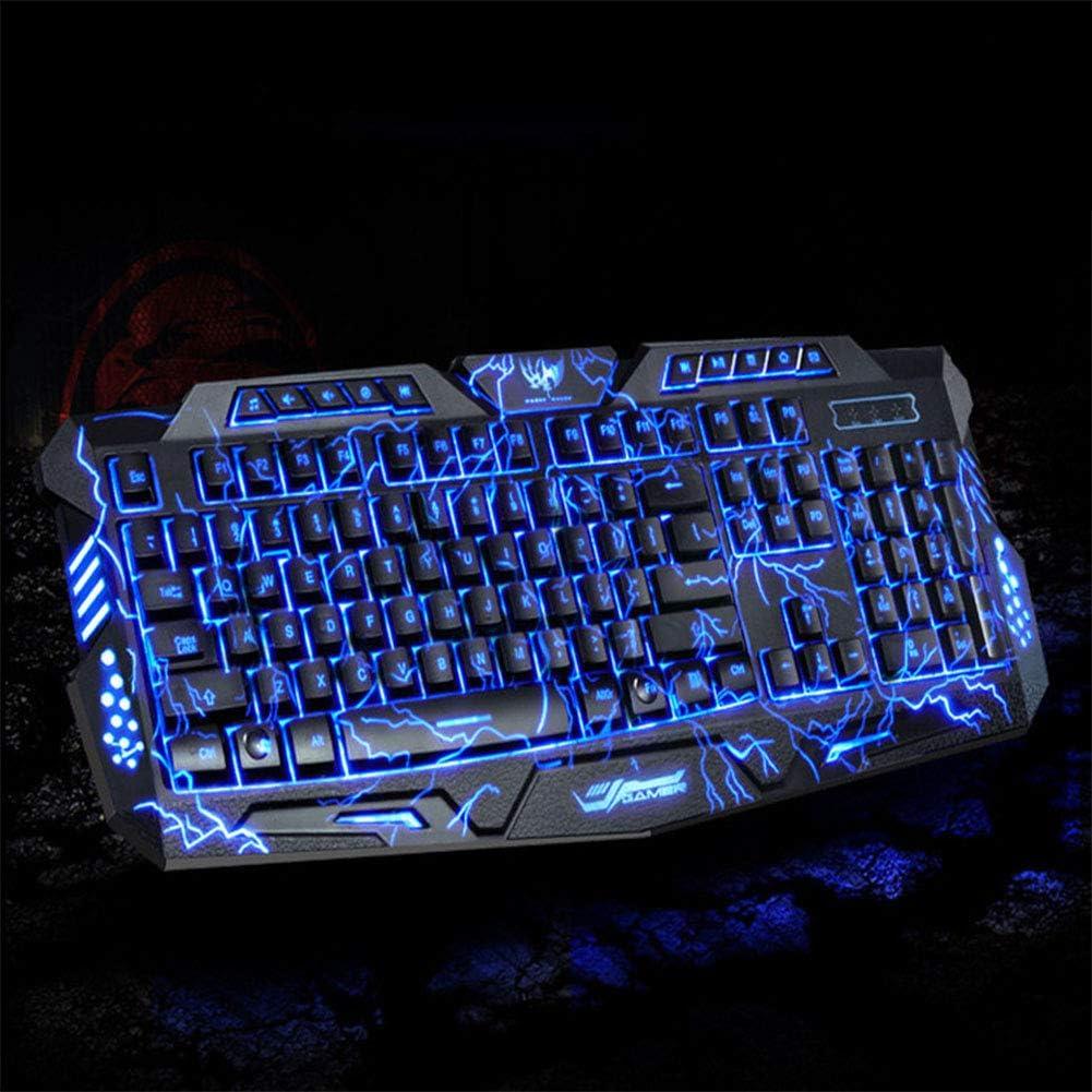 AKDSteel Tri-Color Backlit Computer Gaming Keyboard Teclado USB Powered Game Keyboard for Desktop Laptop Crack Keyboard for CE Accessories