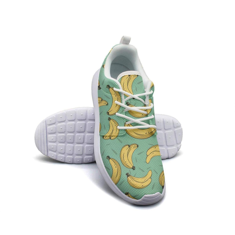 Vintage Cute Banana Print Girl Skateboard Casual Shoes Cute Running Shoes
