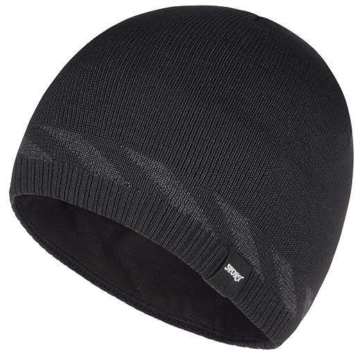 4f825bf25 Bodvera Mens Winter Beanie Hat Warm Knit Cuffed Plain Toboggan Ski Skull  Cap 4 Colors