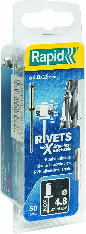 Eisenwaren2000 ISO 15983 rostfrei 6 x 14 mm Blindniet Niet Edelstahl A2 V2A 5 St/ück Popnieten DIN 7337 - mit Flachkopf