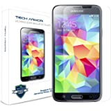 Tech Armor Ballistic Glass Screen Protector with Anti-Fingerprint Coating for Samsung Galaxy S5
