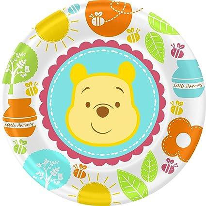 Winnie the Pooh u0027Little Hunnyu0027 Baby Shower Small Paper Plates ...  sc 1 st  Amazon.com & Amazon.com: Winnie the Pooh u0027Little Hunnyu0027 Baby Shower Small Paper ...