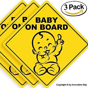 e294ca24fd5 Amazon.com   Baby on Board Sticker Sign (3 pack)
