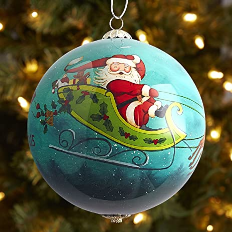 pier 1 li bien santa with friends ornament