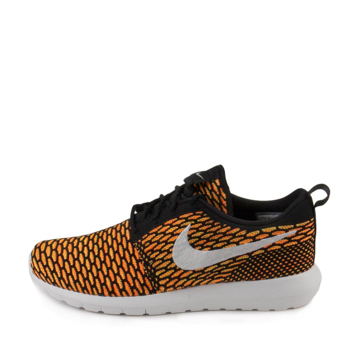 Nike Nike roshe nm flyknit, Men's Running Shoes, Black (black white orange volt Total), 12 UK (47.5 EU)