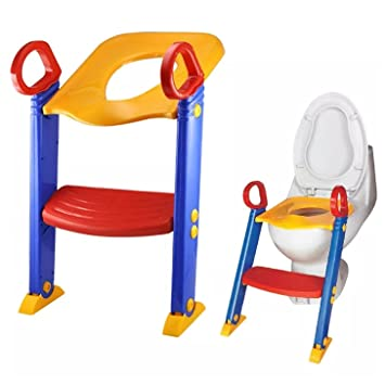 Admirable Loz Baby Ladder Toilet Ladder Chair Toilet Trainer Potty Toilet Seat Step Up Toddler Toilet Training Step Gamerscity Chair Design For Home Gamerscityorg