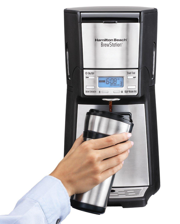 Amazon.com: Hamilton Beach (48465) Coffee Maker with 12 Cup Capacity &  Internal Storage Coffee Pot, Brewstation, Black & Stainless: Drip  Coffeemakers: ...