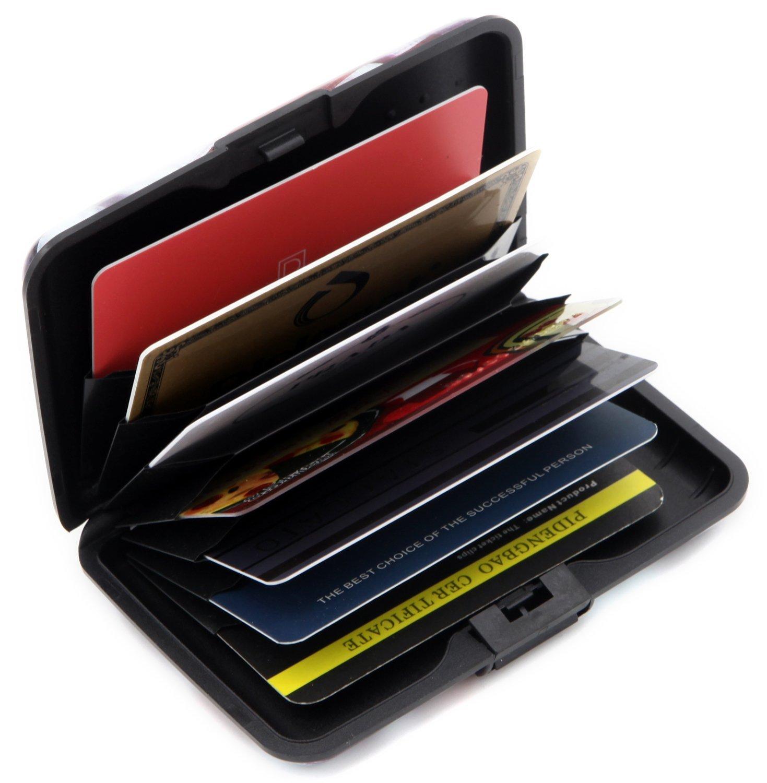 deezone aluminum rfid blocking credit card holder