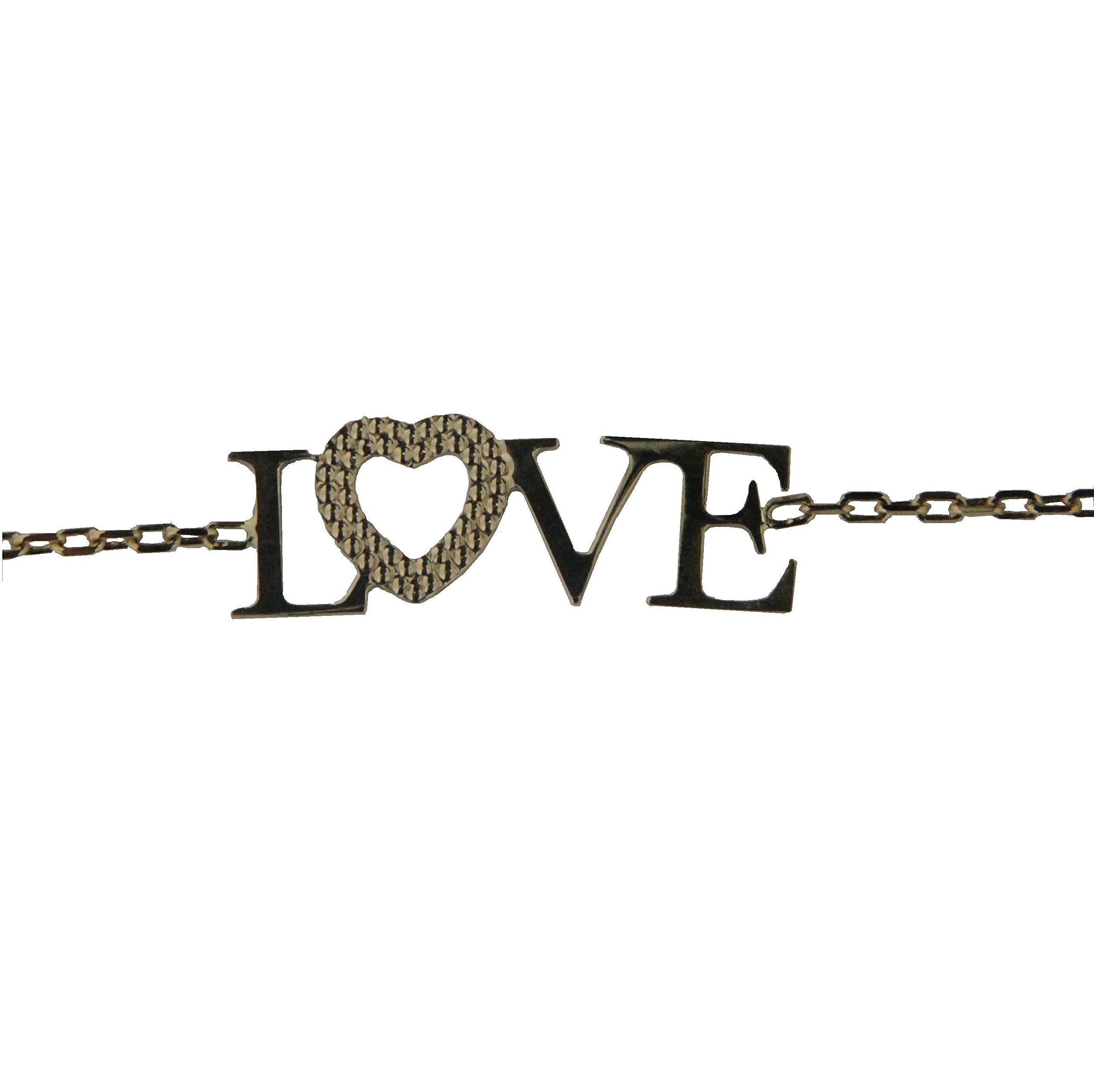 18K Yellow Gold Love Bracelet 7 inches with extra rings starting at 6.30 inch