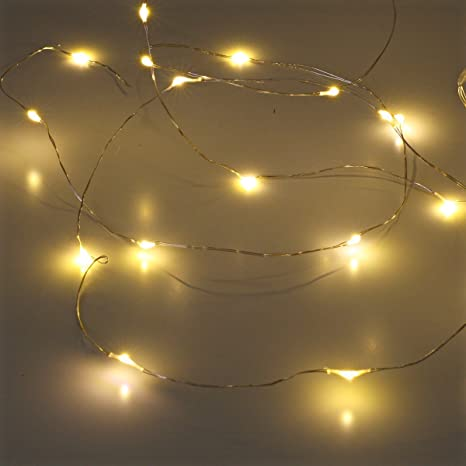 amazoncom sanniu led string lights mini battery powered copper wire starry fairy lights battery operated lights for bedroom christmas parties