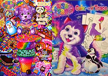 - Amazon.com: Set Of 2 Lisa Frank Coloring Books - Color And Trace And  Activity Book: Toys & Games