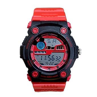 quality design 1bb83 7c554 Amazon | ディズニー 腕時計 デジタル 50M 防水 レッド×レッド ...