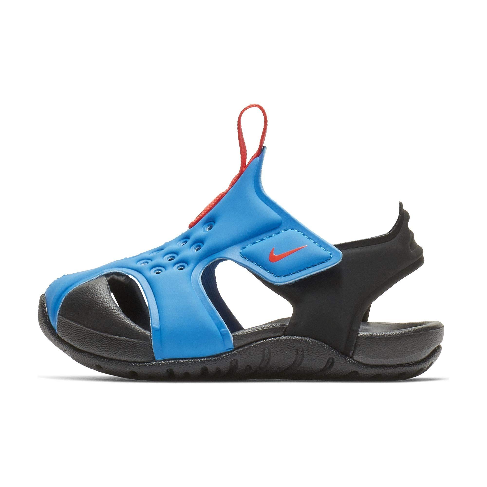 Nike Toddler Kid's Sunray Protect 2 Sandal, Photo Blue/Bright Crimson-Black, 9 M US Toddler