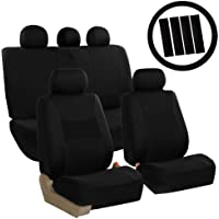 $42 » FH Group FB030BLACK115-COMBO Seat Cover Combo Set with Steering Wheel Cover and Seat…
