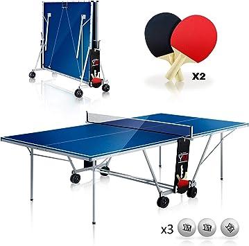 YM - Mesa de Ping Pong de Interior Plegable para el Transporte de ...