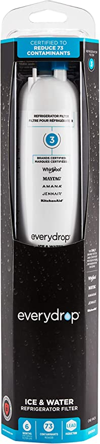 Amazon Com Everydrop By Whirlpool Refrigerator Water Filter 3 Edr3rxd1 Pack Of 1 White Home Improvement