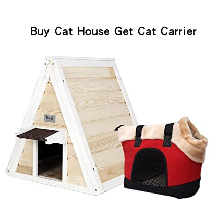 Amazon petsfit outdoor cat shelter for feral cat cat house petsfit outdoor cat shelter for feral catcat house cat condo paint it by yourself solutioingenieria Image collections