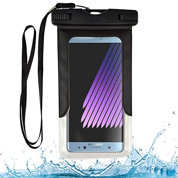 reputable site 29162 fe584 Waterproof Dry Bag Cell Phone Pouch (Black) for Nokia 3.1 A, 3.1 C, X71, 9  PureView, 3.2, 8.1, 5.1 Plus, 7.1 Plus, 3.1 Plus