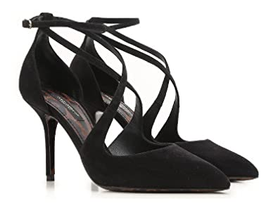 cca55e8234 Dolce   Gabbana High Heel Sandals in Black Suede Leather  Amazon.co.uk   Shoes   Bags